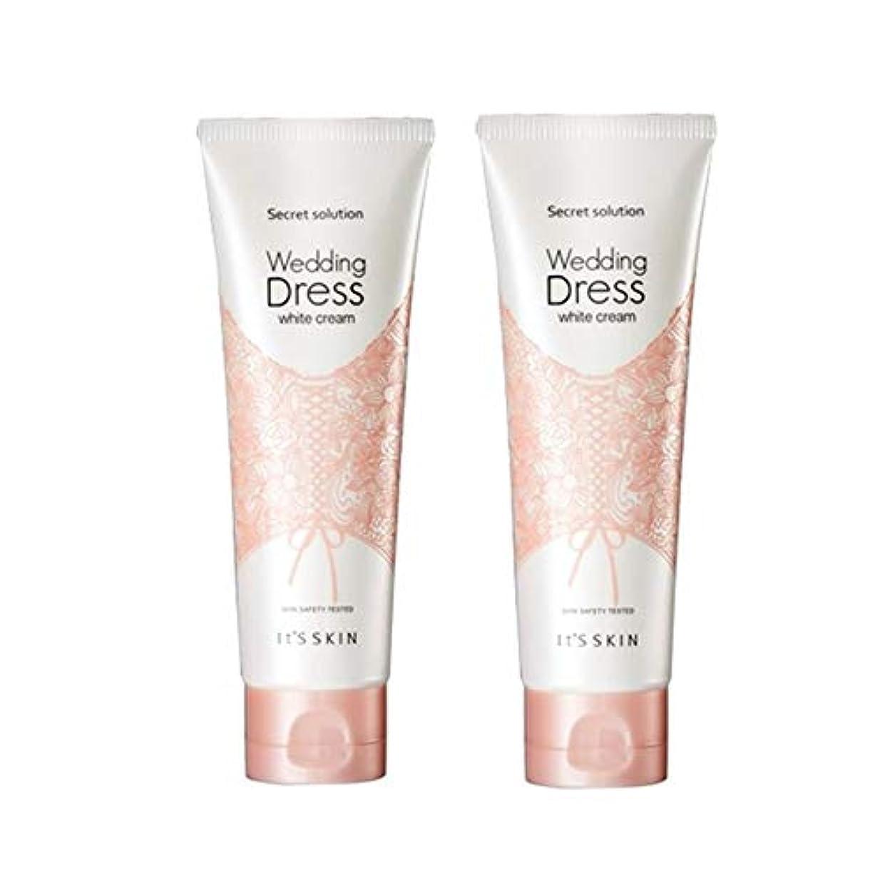 イッツスキンのシークレット?ソリューションウェディングドレス?ホワイトクリーム100mlx 2本セット、It's Skin Secret Solution Wedding Dress White Cream 100ml...