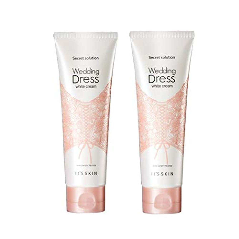 雄弁裏切りデッキイッツスキンのシークレット?ソリューションウェディングドレス?ホワイトクリーム100mlx 2本セット、It's Skin Secret Solution Wedding Dress White Cream 100ml...