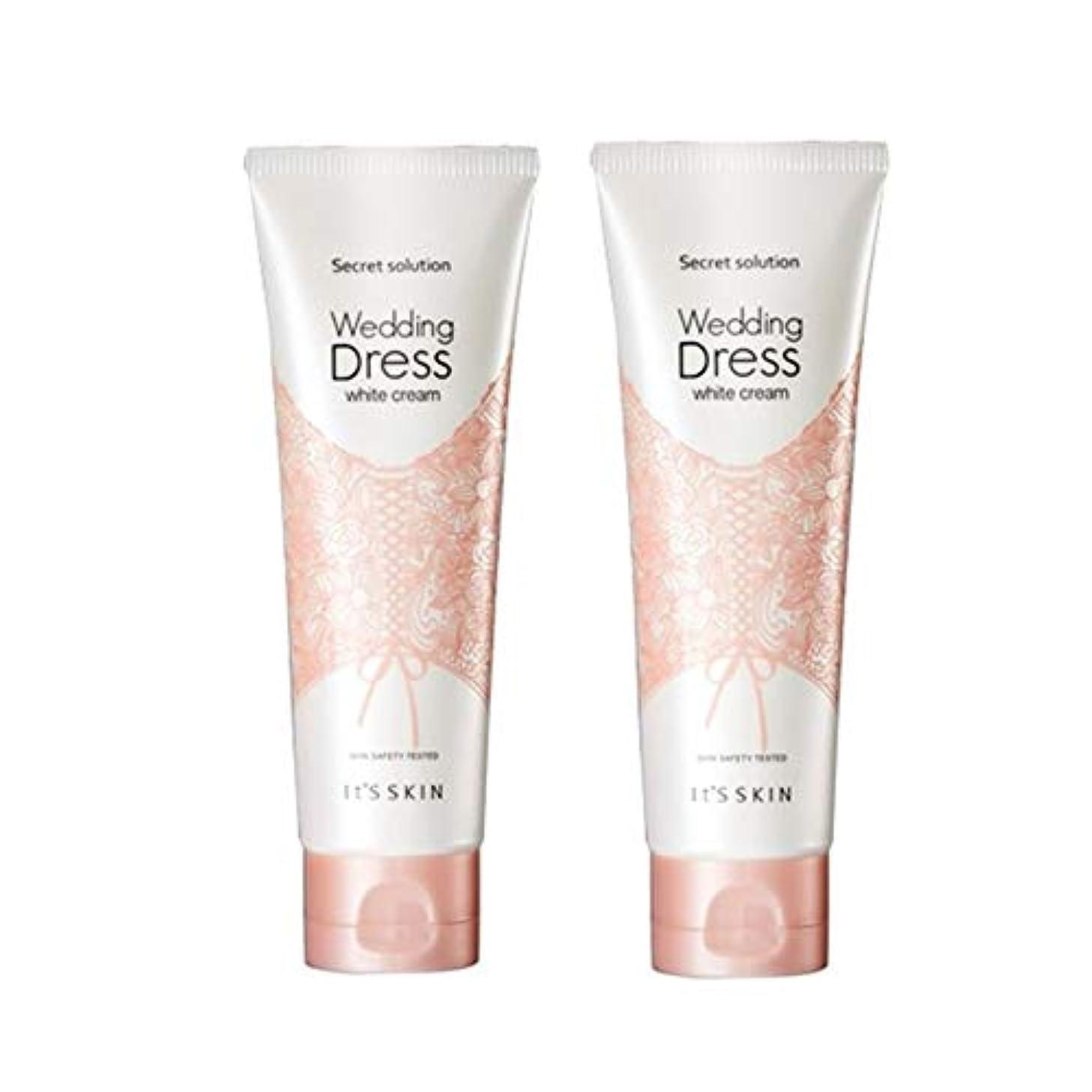 見分ける枯れる葉を集めるイッツスキンのシークレット?ソリューションウェディングドレス?ホワイトクリーム100mlx 2本セット、It's Skin Secret Solution Wedding Dress White Cream 100ml...