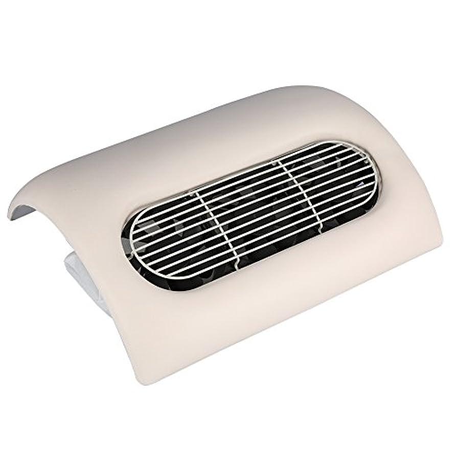 特徴手首加入ネイルダストサクション、サロンアートジェルポーランドマニキュア掃除機実用サロン洗浄装置 (ベージュ)