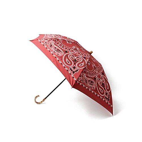 (デミルクスビームス) Demi-Luxe BEAMS manipuri (マニプリ) / バンダナ柄 折りたたみ傘 晴雨兼用 64660035578 別注レッド