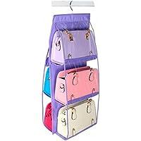 (ナンディン) nandin 吊り下げ 収納 型崩れ 防止 かばん バック 鞄 バッグ (紫)
