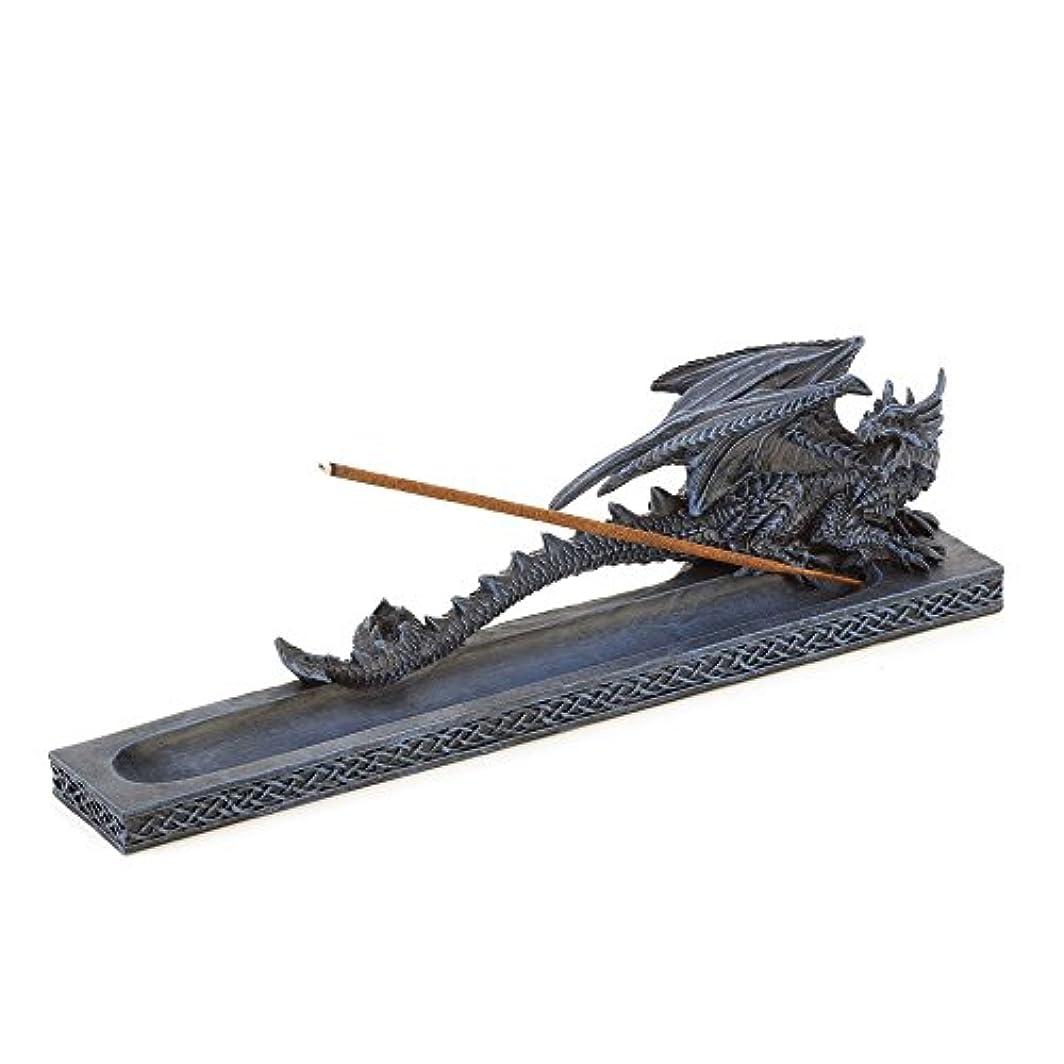 ダム女の子堀Incense Burners、樹脂ドラゴン香炉像for Incense Stick