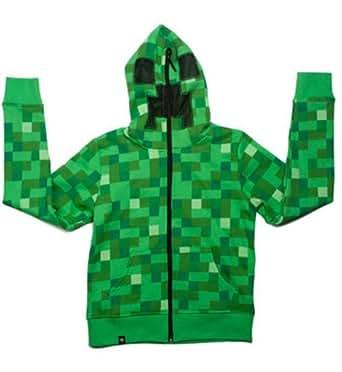 Minecraft Creeper Premium Zip-Up Adult Hoodie Minecraftのクリーパープレミアムジップアップパーカー大人用♪ハロウィン♪サイズ:X-Large