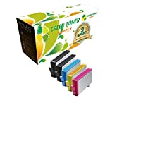 グリーントナーSupply互換インクカートリッジHP 564X L (ブラック2, 1シアン、1イエロー、マゼンタ1, 5- Pack )