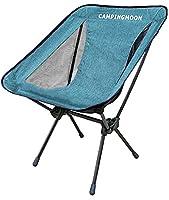 キャンピングムーン(CAMPING MOON) アウトドアチェア ポータブルチェア 椅子 折りたたみ 840Dバリスティックポリエステル・7075超々ジュラルミン製 収納袋付き (F-2002)