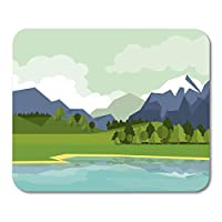 マウスパッド美しい農場山と湖の自然の風景のカラフルな農業クリップノートブック用デスクトップマウスパッド、デスクトップコンピューターマウスマット、オフィス用品