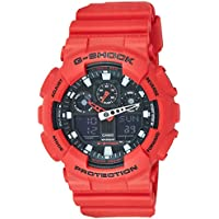 GSHOCK Men's Automatic Wrist Watch analog-digital Display and Resin Strap, GA100B-4A