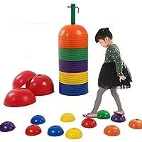 バランスストーン バランスボード 子供用 体幹 トレーニング 安全 屋内 遊具 [遊びで子供のバランス感覚と運動能力がアップ] 1セット36個