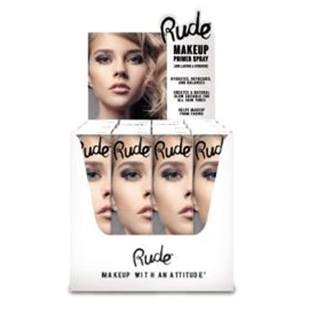 北へ骨役員RUDE Make Up Primer Spray Paper Display Set, 12 Pieces (並行輸入品)
