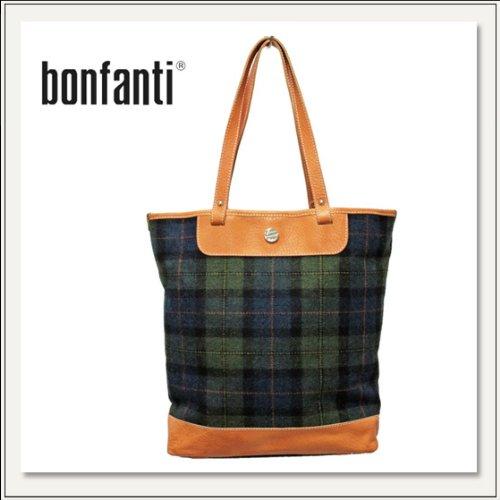 【BONFANTI(ボンファンティ)】 TARTAN BLU-VERDE TOTEBAG 861215  [トートバッグ/ウールバッグ][タータンチェック][鞄/かばん][メンズ][レディス]