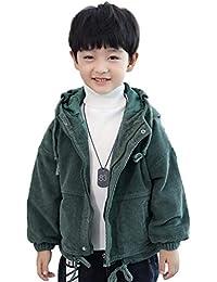 5346d2a804e04e 男の子 ウィンターコート コーデュロイのコート 子供服 厚手コート 冬 ボーイズ ダウンコート 中綿コート キッズ 防寒 フード付き アウター  ファッション…