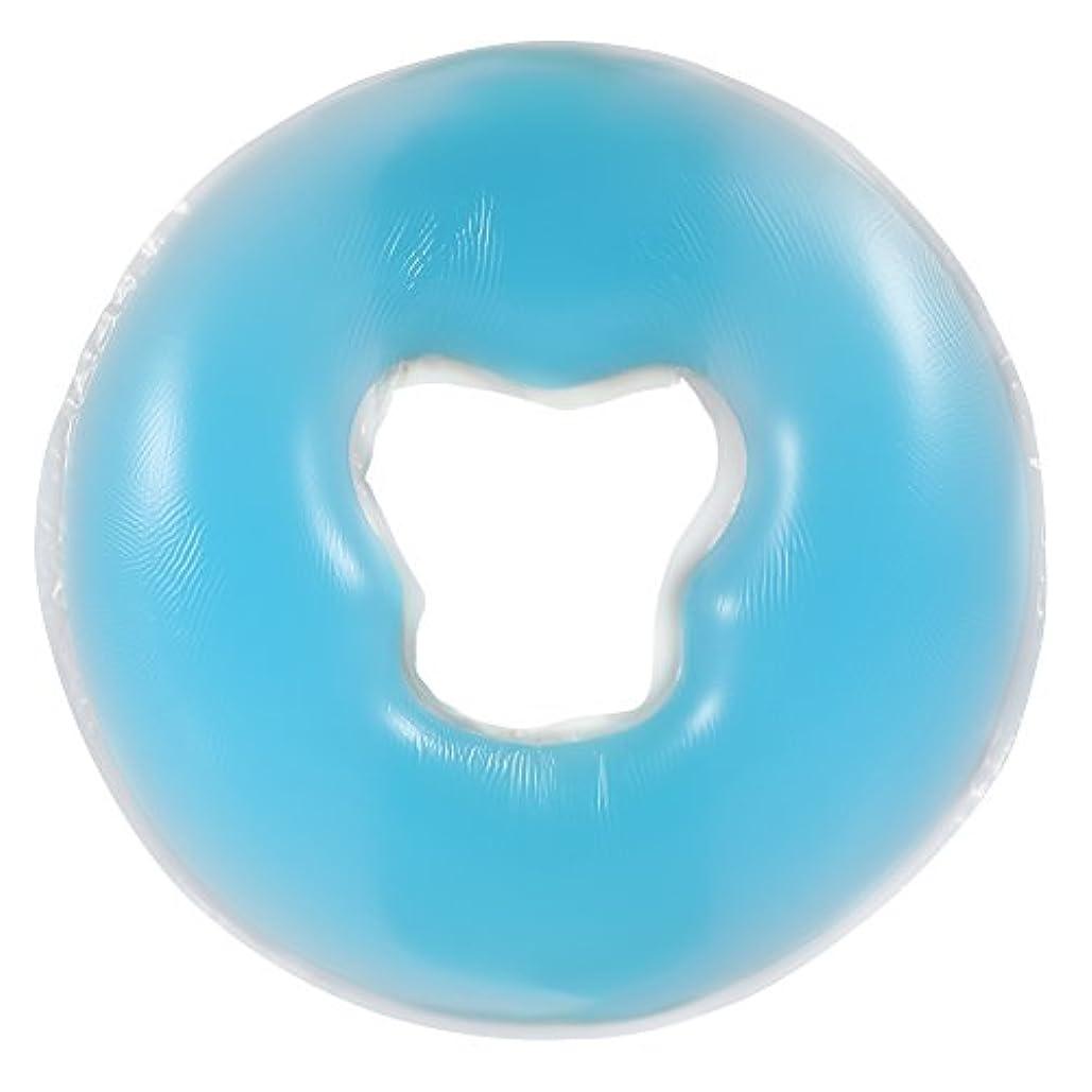 土曜日即席肩をすくめる4色シリコンピローマッサージ美容スキンケアソフトオーバーレイフェイスリラックスクレードルクッションパッド(天蓝色)