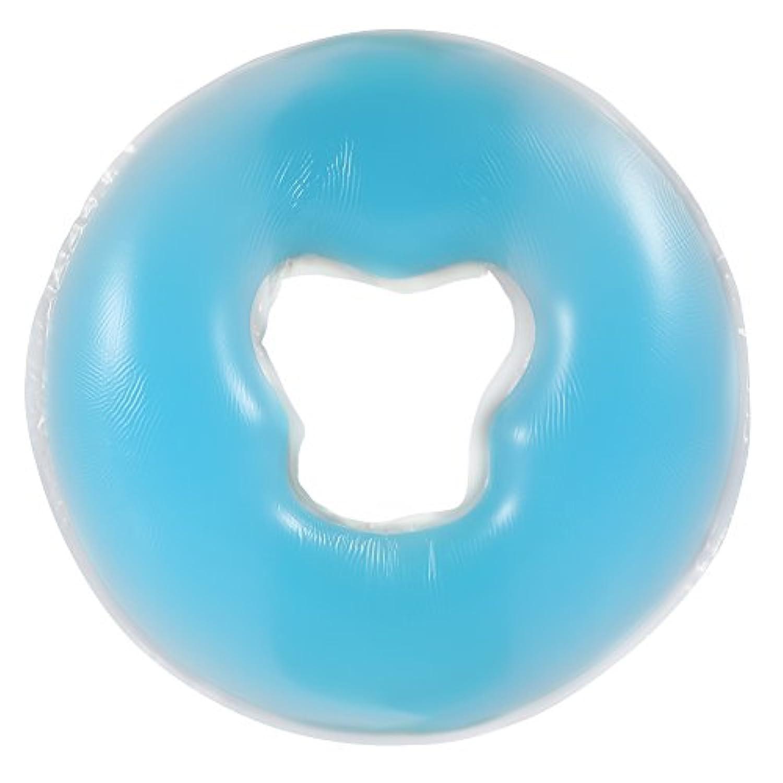 4色シリコンピローマッサージ美容スキンケアソフトオーバーレイフェイスリラックスクレードルクッションパッド(天蓝色)
