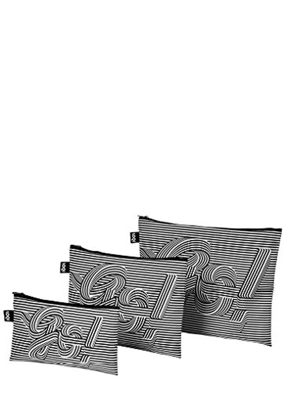 目覚める絶壁ロンドンLOQI(ローキー) ジップポーチ3個セット TYPE ZP.TY.GO