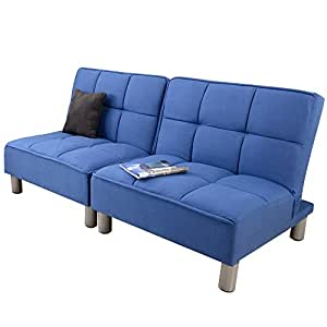 UNE BONNE(ウネボネ) リクライニング ソファベッド (座いす リクライニング) カップル 新婚用 ベッドにもなる カウチソファ 1~3人掛け NAVY