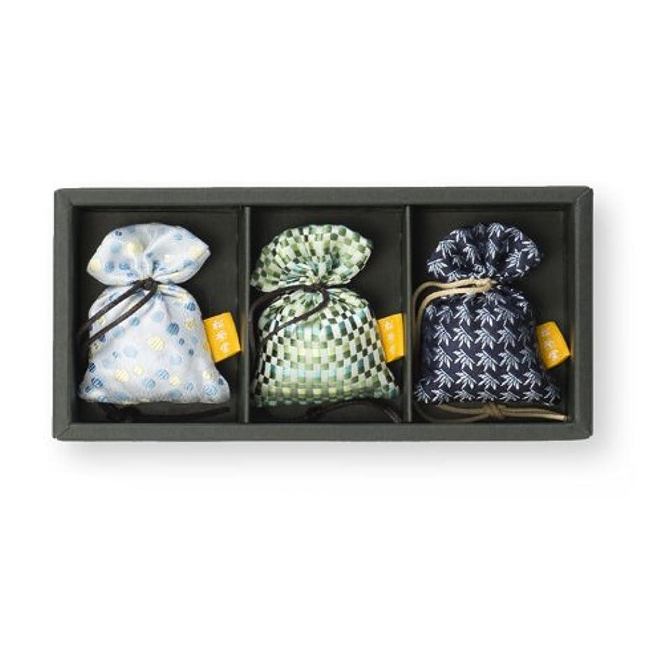 維持する製造連鎖松栄堂 匂い袋 誰が袖薫 父の日3入 限定商品(柄おまかせ)