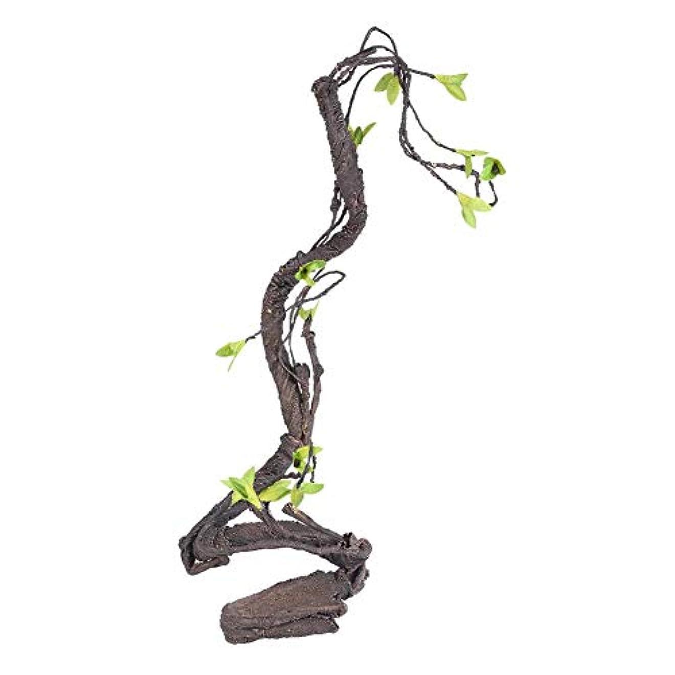ダンスコールドバルコニー丈夫でタフな環境に優しいつるのクライマー、人工のクライマー、テラリウムの装飾、爬虫類のペットには無毒(WF-2)
