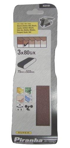 ブラックアンドデッカー サンディングベルト サンダー KA3000用 #80×3枚入り X33191-XJ