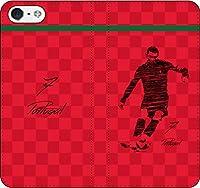 iPhone/Xperia/Galaxy/他機種選択可:サッカー/グラフィティ/へのへのもへじタッチ落書き手帳ケース(デザイン:ポルトガル/7番_01) 15 全機種対応用【Lサイズ】