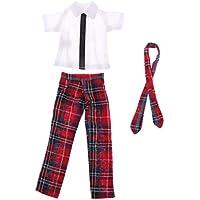 SONONIA 12インチブライスドールのため かわいい 人形 学生チェック柄制服セット シャツ ズボン