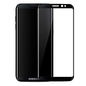 SUPTMAX Galaxy S8 Plus フィルム Samsung S8 Plus 保護フィルム 全面 指紋防止 強化ガラス キズから守る (ミッドナイトブラック)