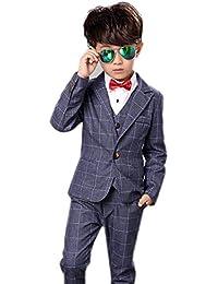 e69d09ffce229 子供スーツ 男の子フォーマルジャケットベストズボン3点セット子供服 洋服 キッズフォーマルスーツ