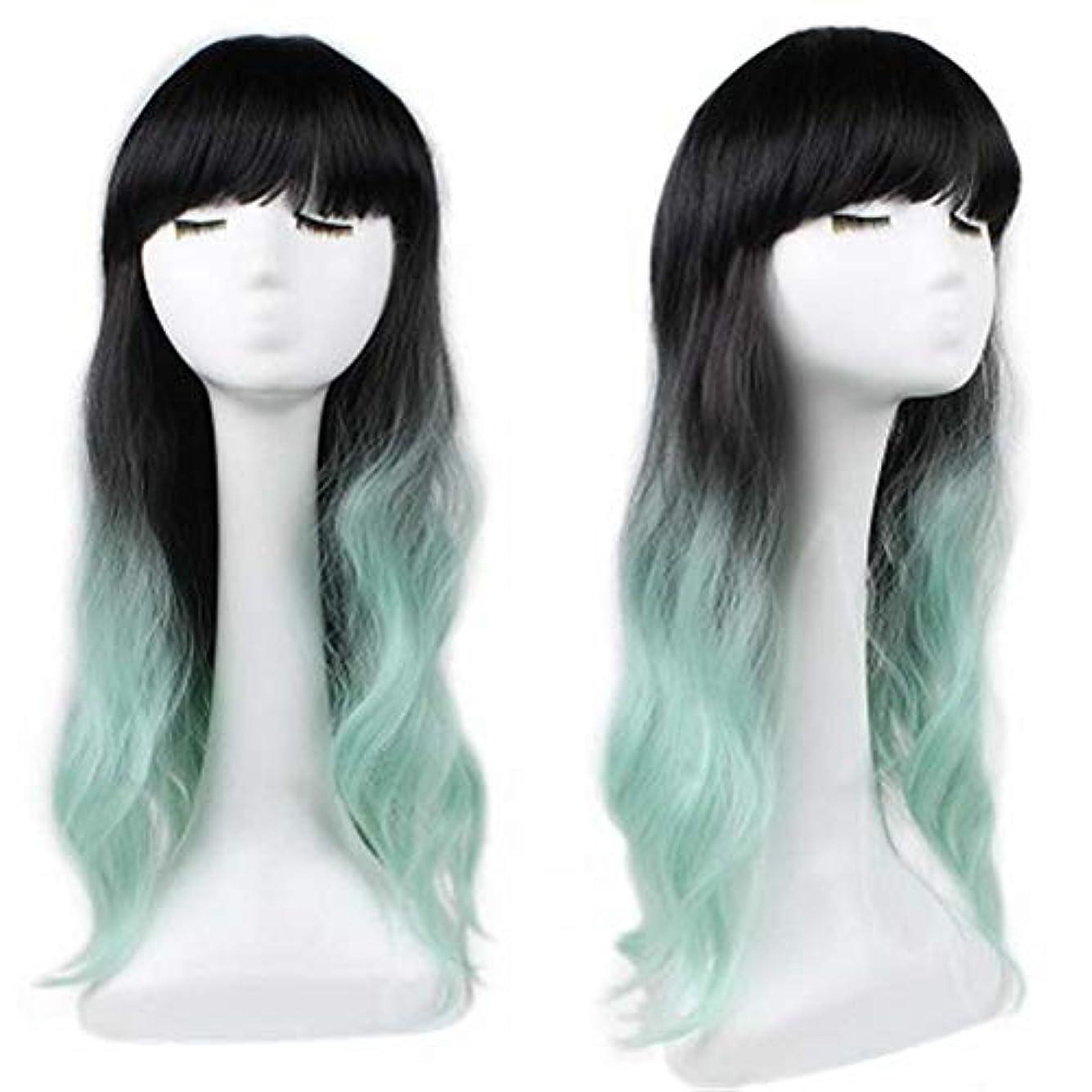 不一致激しい文芸女性のための色のかつら、ポニーテールのロリータカーリーコスプレウィッグ、高密度温度合成ウィッグコスプレヘアウィッグ、耐熱繊維ヘアウィッグ