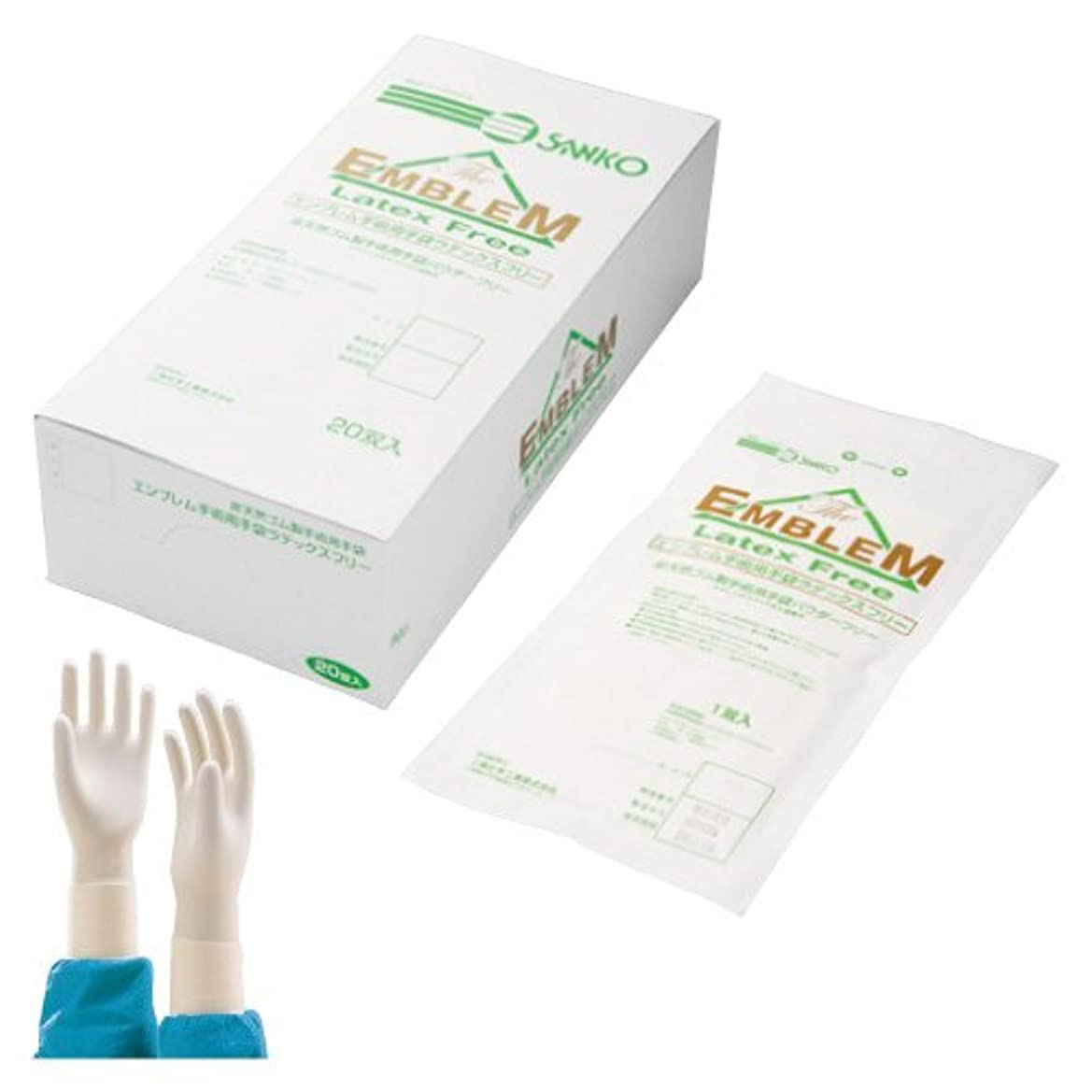 ディプロマ世界参加するエンブレム手術用手袋 6 <1箱(20双入)>
