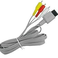 QAZSE 1.8M 5.904FT Wii 30Pinオス - 3RCAオスビデオオーディオTVディスプレイ接続ケーブル(Wii用)