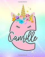 Camille: Girls Unicorn Journal to Write In | Personalized Journal