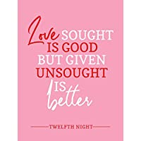 Quote Shakespeare Love Unsought Better Large XL Wall Art Canvas Print 見積もり 愛 壁