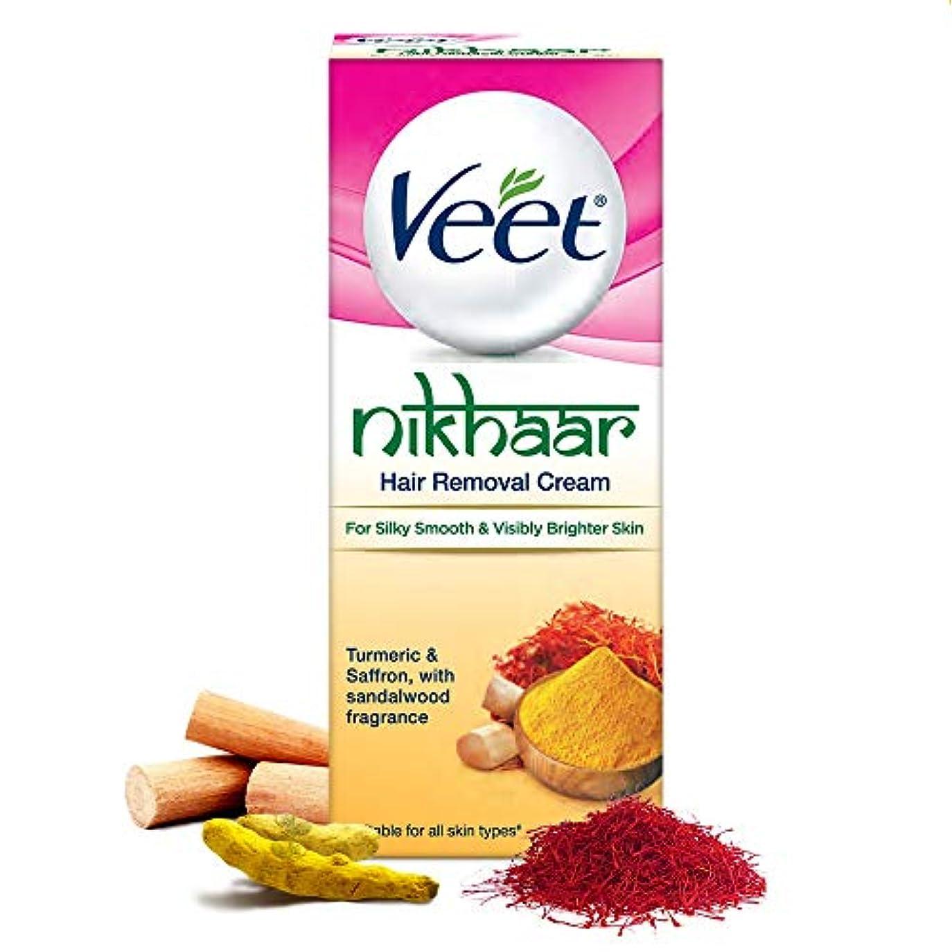 労苦脚存在Veet Nikhaar Hair Removal Cream for All Skin Types, 50g - India