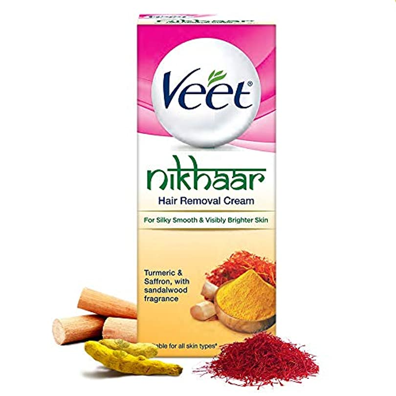 ぴったりコミュニティ姿勢Veet Nikhaar Hair Removal Cream for All Skin Types, 50g - India