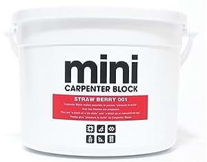 CARPENTER BLOCK mini SINGLE COLOR 64PIECES /STRAW BERRY 001