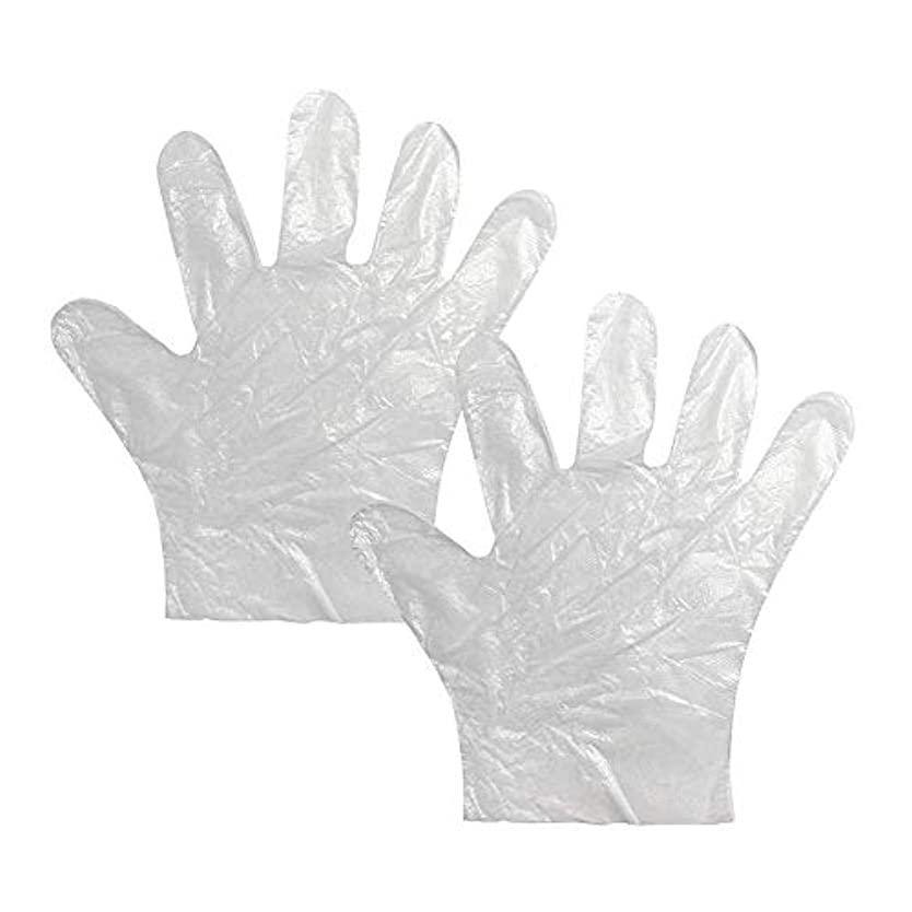 小川スケルトン依存使い捨て手袋 極薄ビニール手袋 ポリエチレン 透明 実用 衛生 100枚*2セット