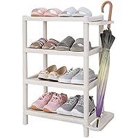 SLH 多層シンプルな靴の棚の傘のストレージラックプラスチックアセンブリの靴の棚の破片の仕上げラック (Size : Four layer)