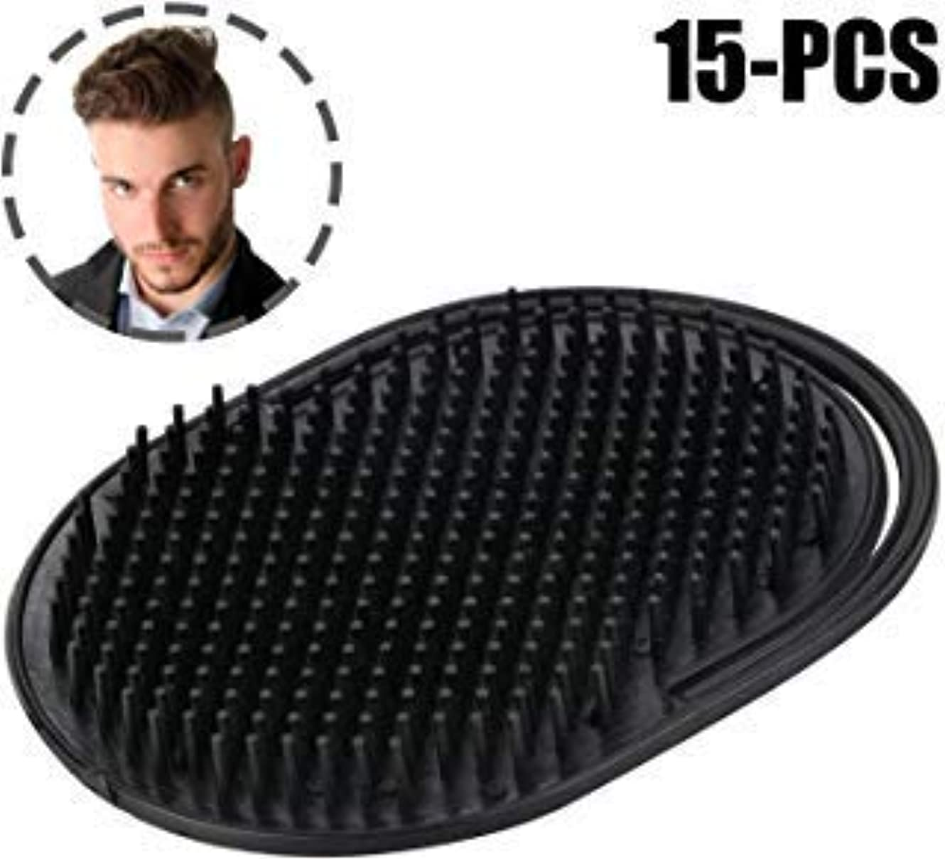 輝度パプアニューギニア適合Kapmore 15 PCS Palm Comb Pocket Comb Creative Scalp Massage Brush Portable Shampoo Comb for Men [並行輸入品]