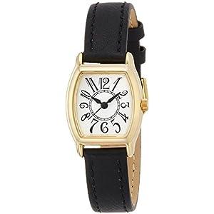 [フィールドワーク]Fieldwork 腕時計 スタンダード アナログ表示 ベージュ×ブラック WWP003-8 レディース