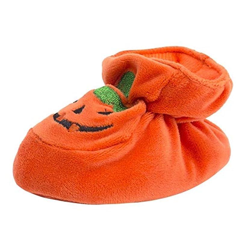 第三再生可能十代の若者たちWyntroy ベビーシューズ ハロウィーンの衣装 暖かい ベビーソックス 可愛い パンプキンデザイン ベビーシューズ ハロウィン かぼちゃの形 新生児靴 ハロウィン用品 良い贈り物 祭りのお祝い Halloween