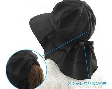 松栄興業 首筋まですっぽりロングケープ帽子 ブラック...