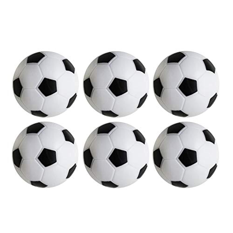 テーブルサッカー フーズボール 交換用 ミニブラックとホワイト サッカーボール S マルチカラー SZ014-6