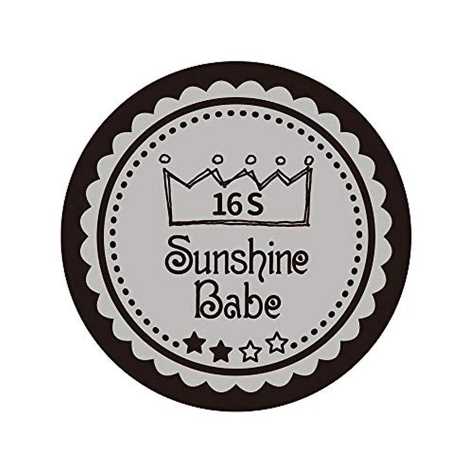 祖父母を訪問算術確認するSunshine Babe カラージェル 16S ハーバーミスト 2.7g UV/LED対応
