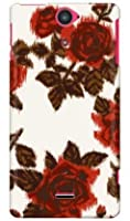 SECOND SKIN SINDEE 「Splashed Rose (ベージュ)」 / for Xperia VL SOL21/au ASOL21-ABWH-193-K625