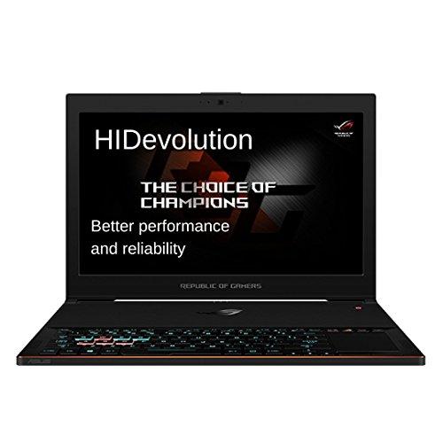 HIDevolution Asus ROG Zephyrus GX501VI-XS74-HID8-US Black 15.6インチ w/ IC Diamond Thermal Compound on CPU+GPU – Optimal System Temperatures (GTX1080 Max-Q/Samsung 960 Pro 1T PCIe SSD/24GB RAM)