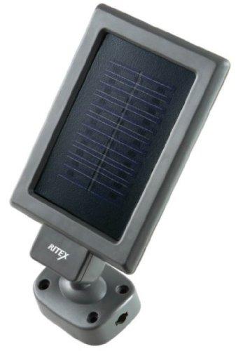 ムサシ RITEX ソーラー式センサーライト(LED1W×2灯) 「防雨型」 S-20L