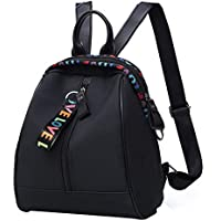 Wearproof Large Capacity Oxford Cloth Ribbon Pendant Portable Cosmetic Storage Casual Women Backpack Outdoor Adjustable Strap