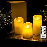 LED キャンドル LEDキャンドルライト 3点セット ロウ リモコン式 ロウソク レッド おしゃれ インテリア LEDライト ライト ベッド ベッドライト クリスマス ろうそく キャンドルライト パーティー ロマンチック