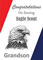 Eagle Scoutおめでとうございますカード: Grandson Special