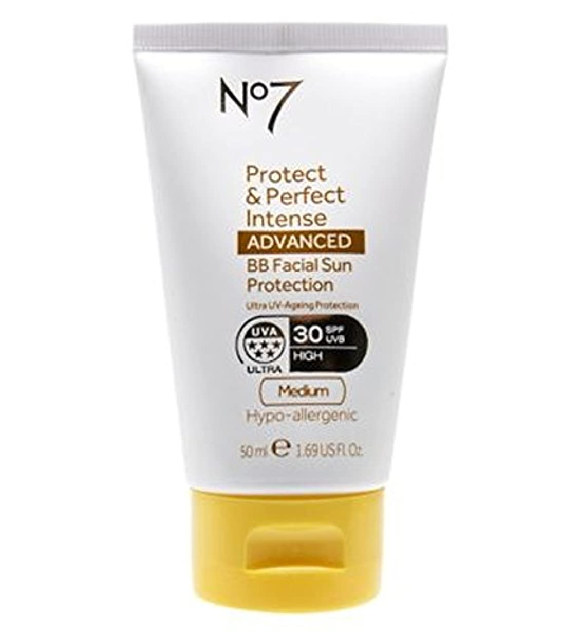 眼ブッシュ絞るNo7 Protect & Perfect Intense ADVANCED BB Facial Sun Protection SPF30 Medium 50ml - No7保護&完璧な強烈な先進Bb顔の日焼け防止Spf30...